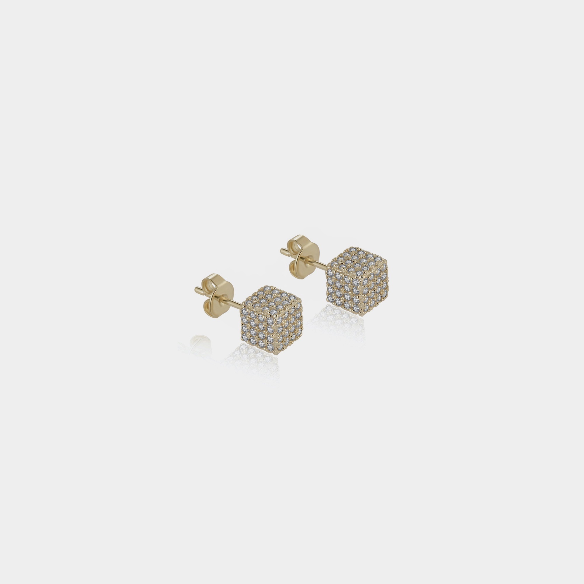 Cuby Earrings - Gold by Emili on curated-crowd.com