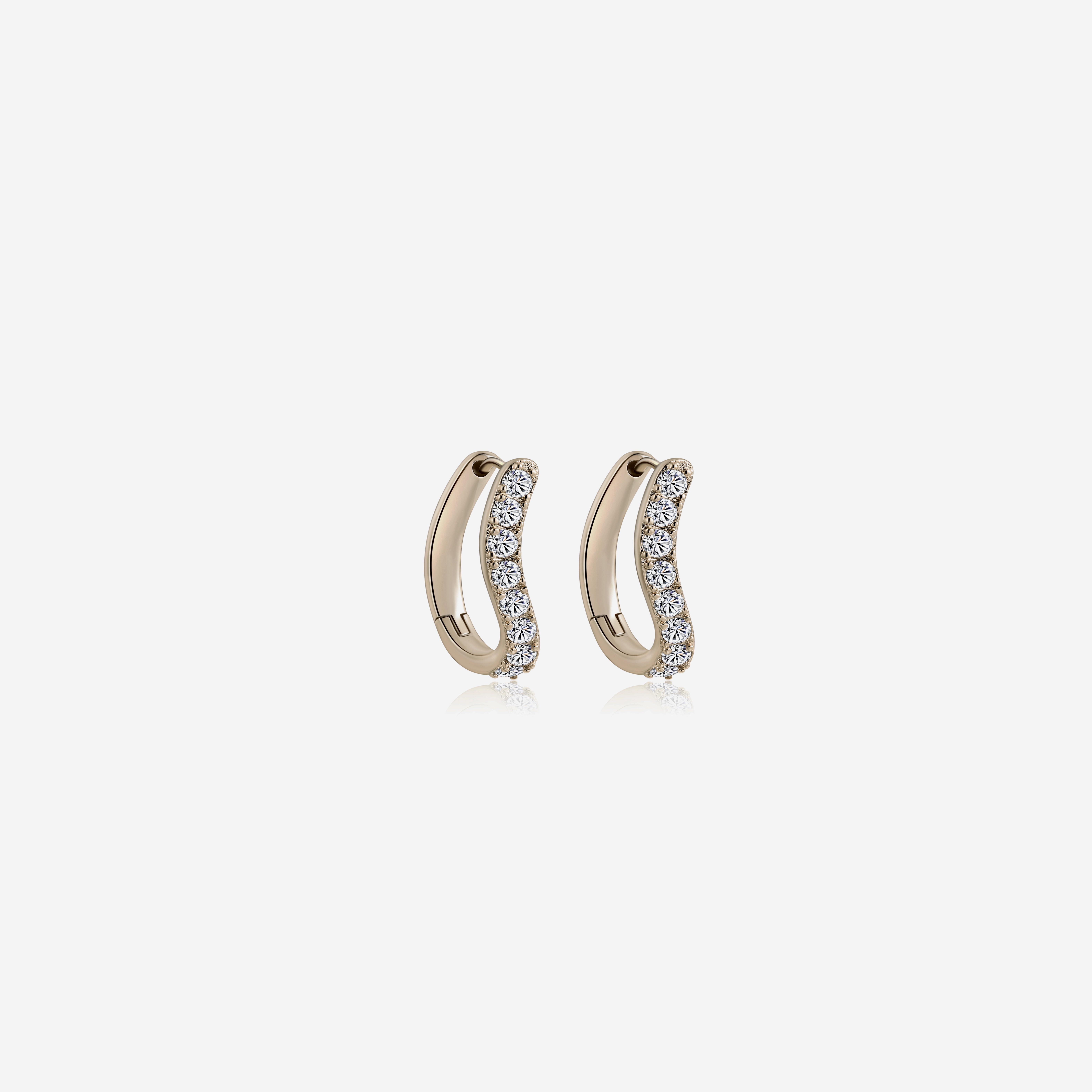 Isabel Earrings - Gold by Emili on curated-crowd.com