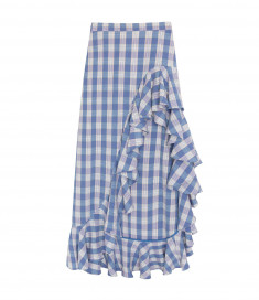 Patio Skirt - Blue Check by Berta Cabestany on curated-crowd.com