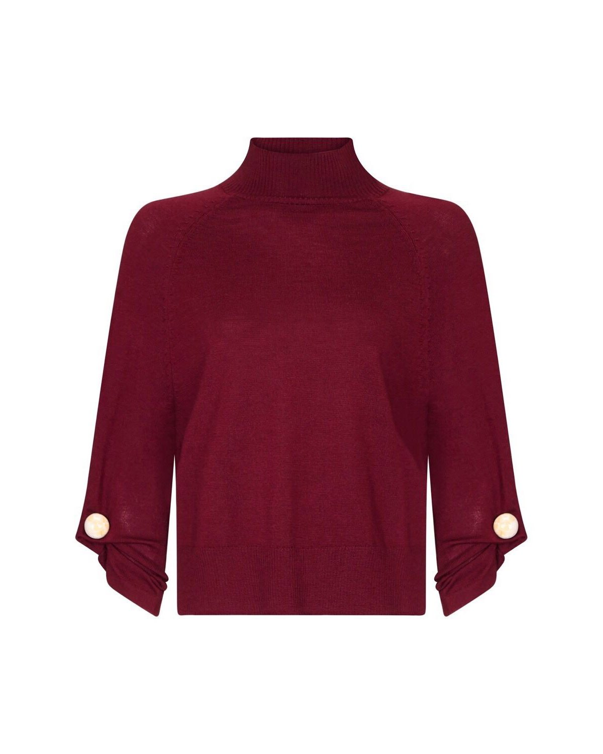 Flame Jumper - Burgundy Pearl by PAPER London on curated-crowd.com
