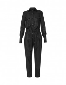 Canyon Jumpsuit - Black Leather by Jessica K on curated-crowd.com