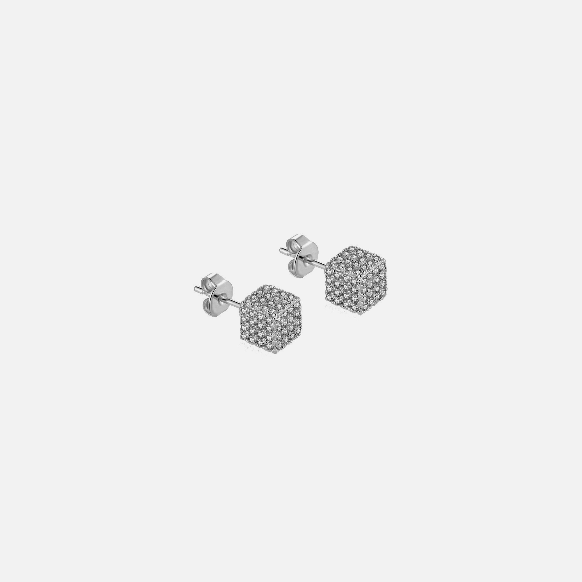 Cuby Earrings - Silver by Emili on curated-crowd.com