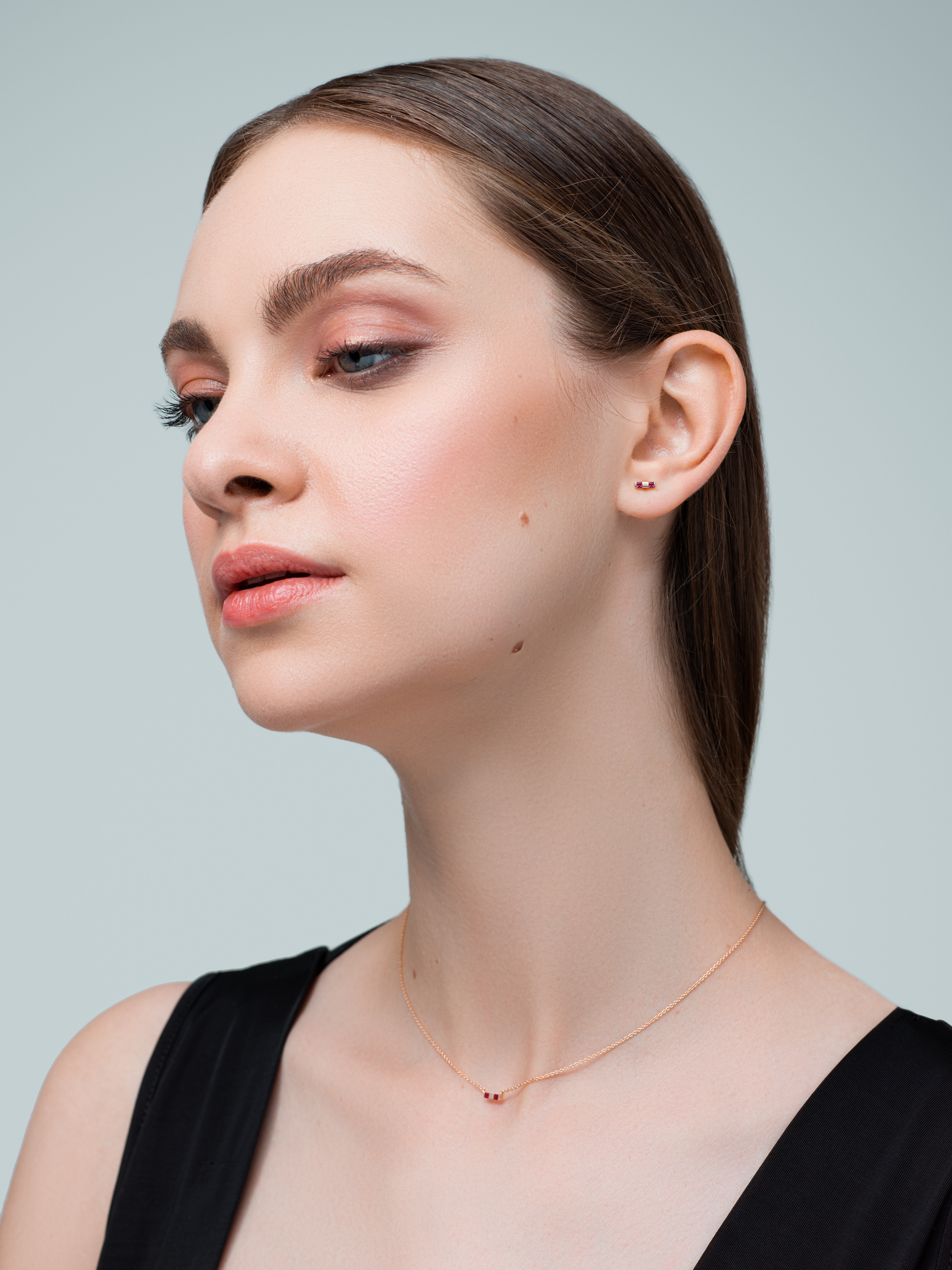 Small Attraction Bar Single Earring by Marmari on curated-crowd.com