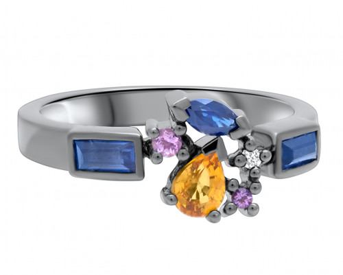 Pull City Lights Attraction Ring by Marmari on curated-crowd.com