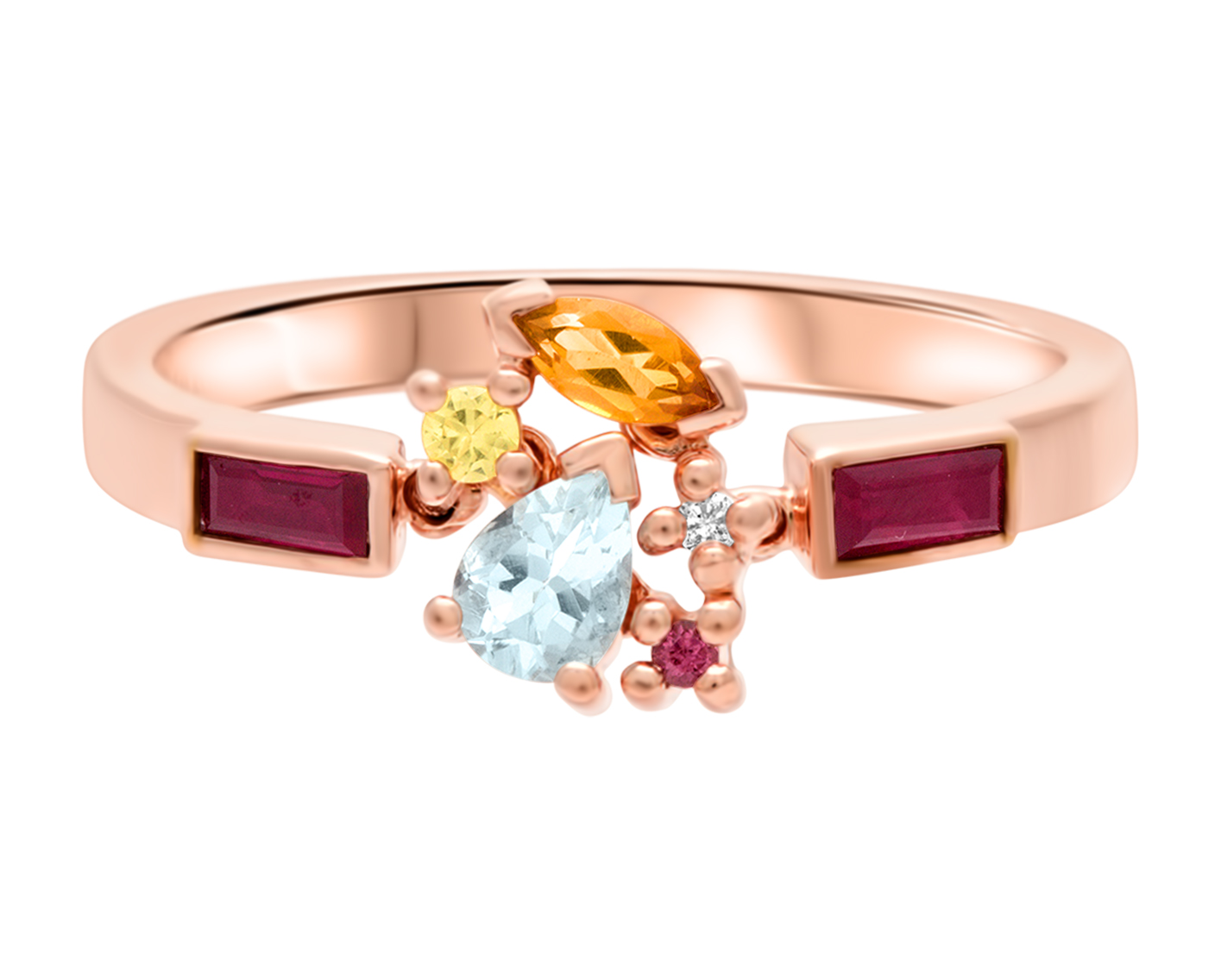 Pull Sunset Attraction Ring by Marmari on curated-crowd.com