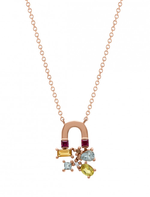 Sunset Attraction Small Necklace by Marmari on curated-crowd.com