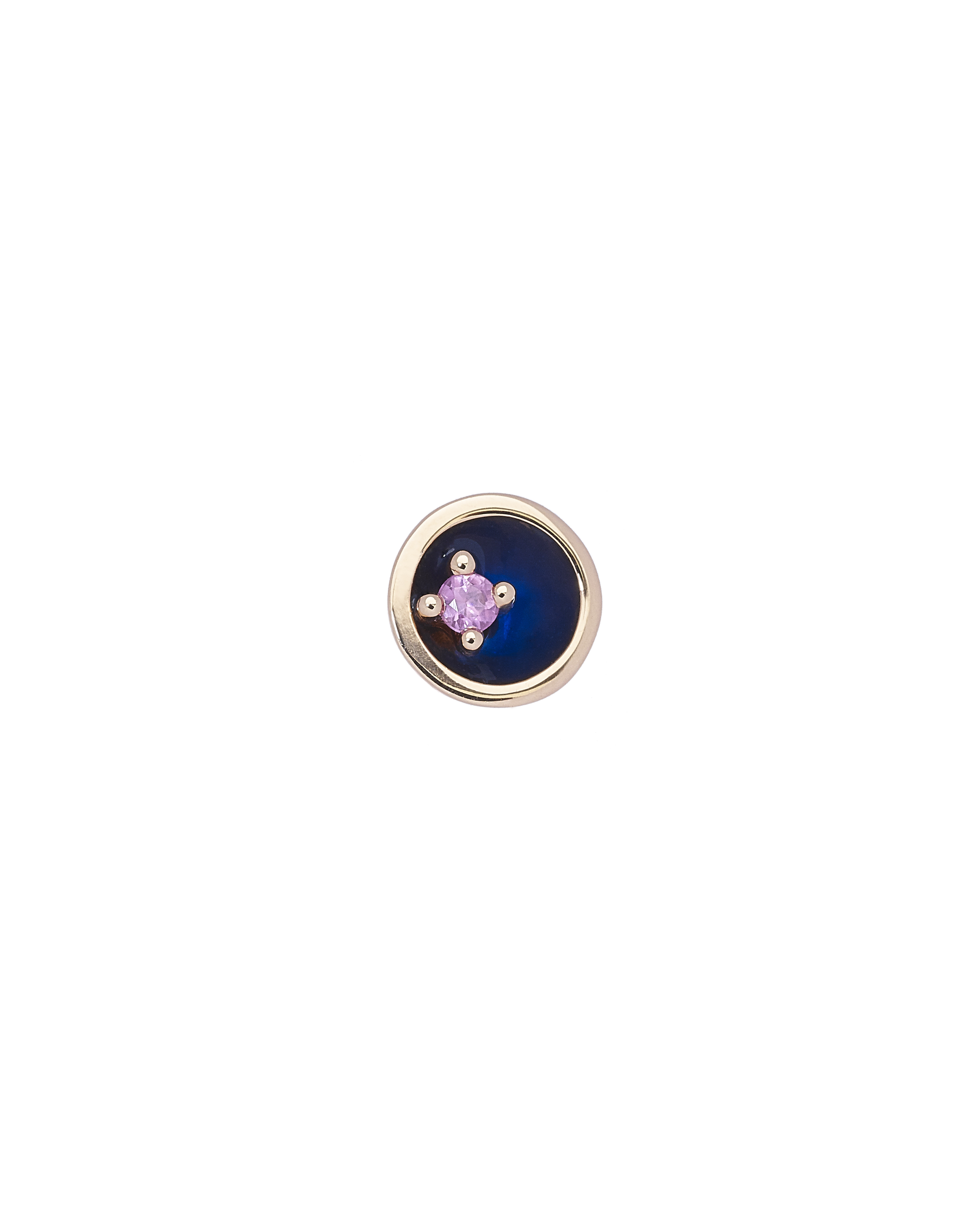 Small Floating Star Pink Sapphire Earring by Marmari on curated-crowd.com