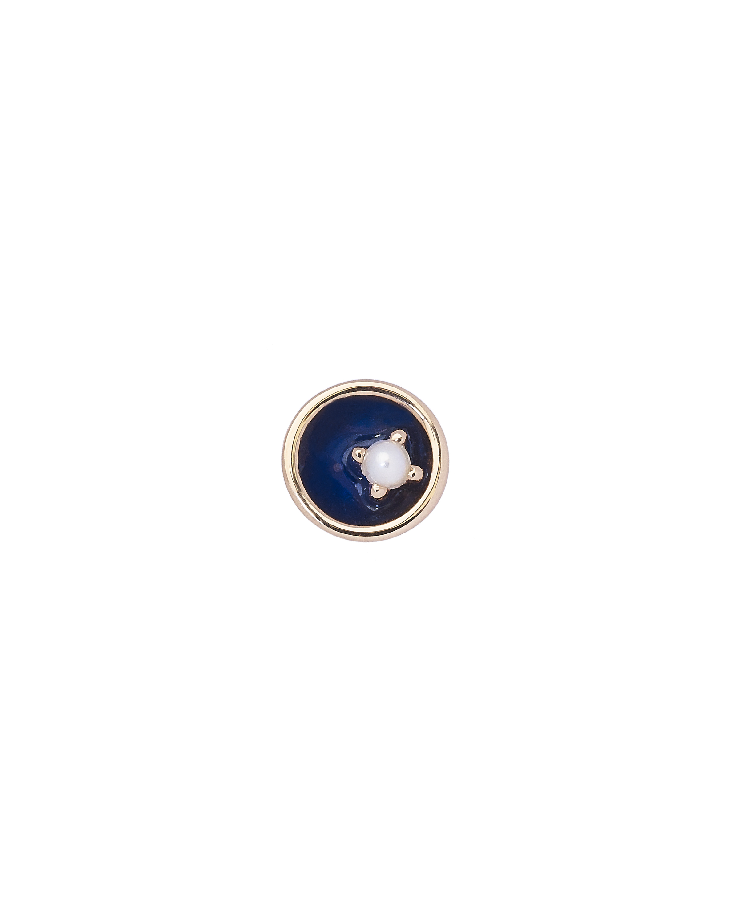 Small Floating Star Pearl Earring by Marmari on curated-crowd.com