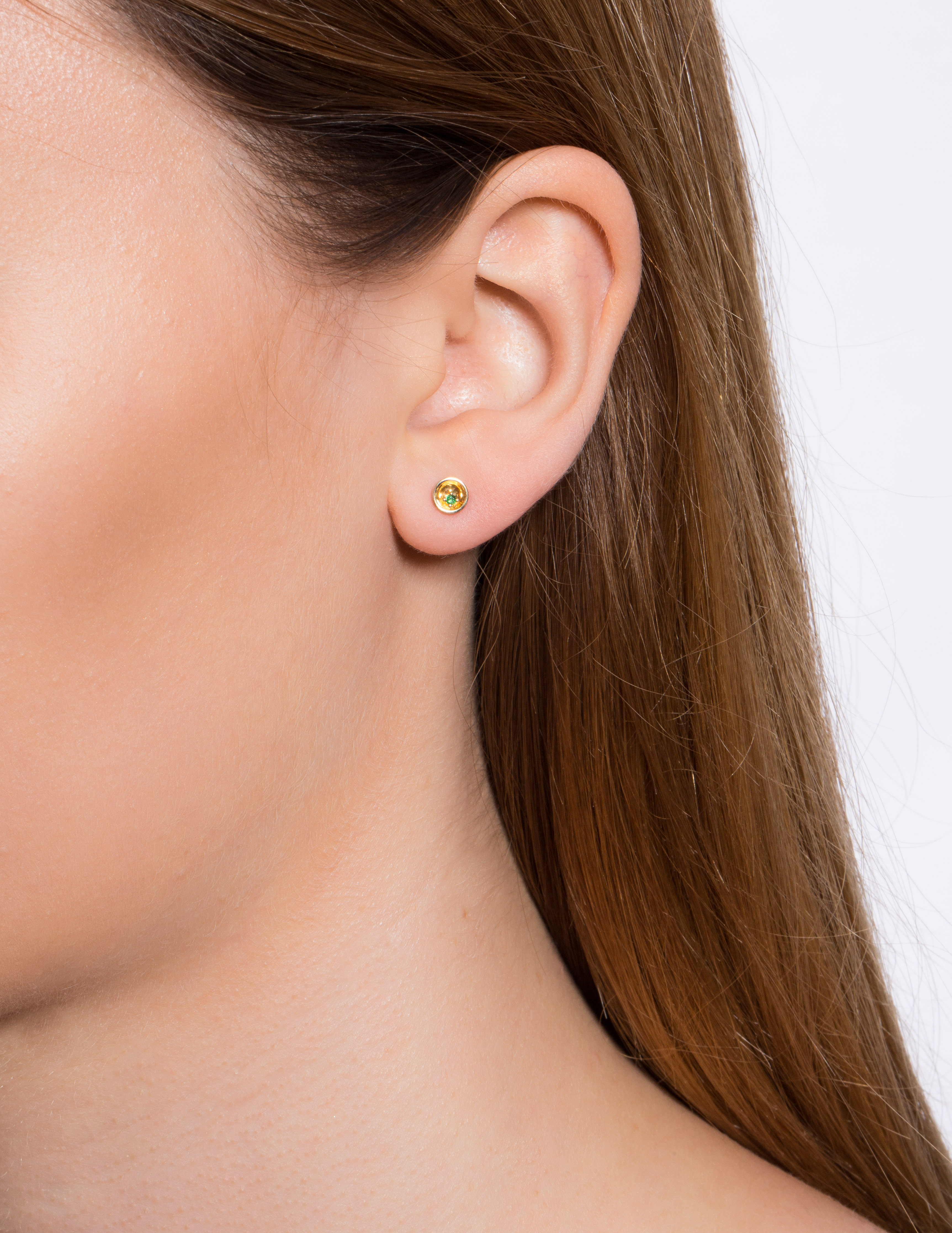 Small Floating Star Tsavorite Earring by Marmari on curated-crowd.com
