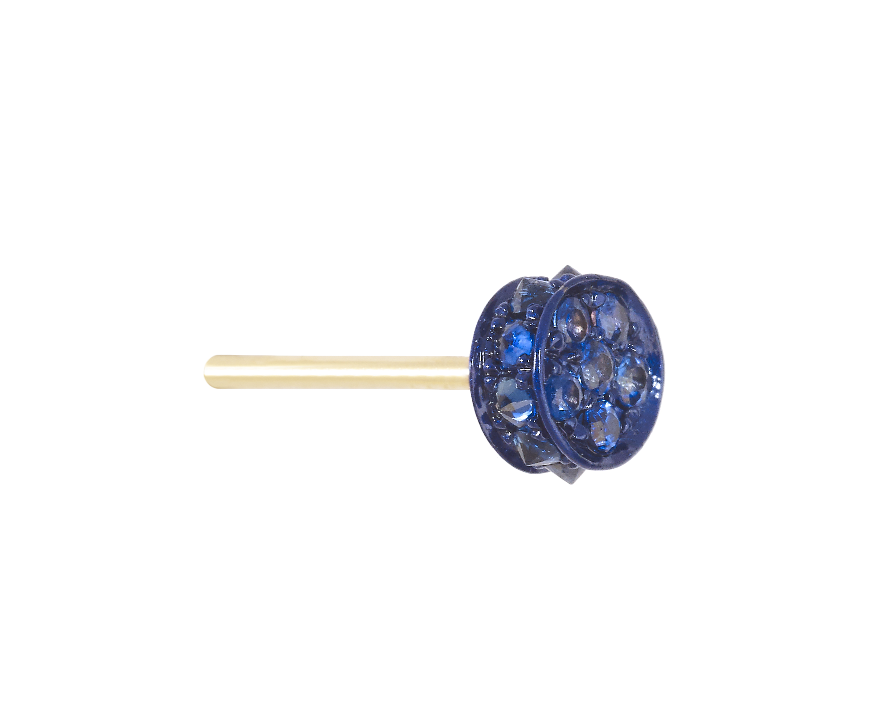Small Flare Blue Sapphire Earring by Marmari on curated-crowd.com