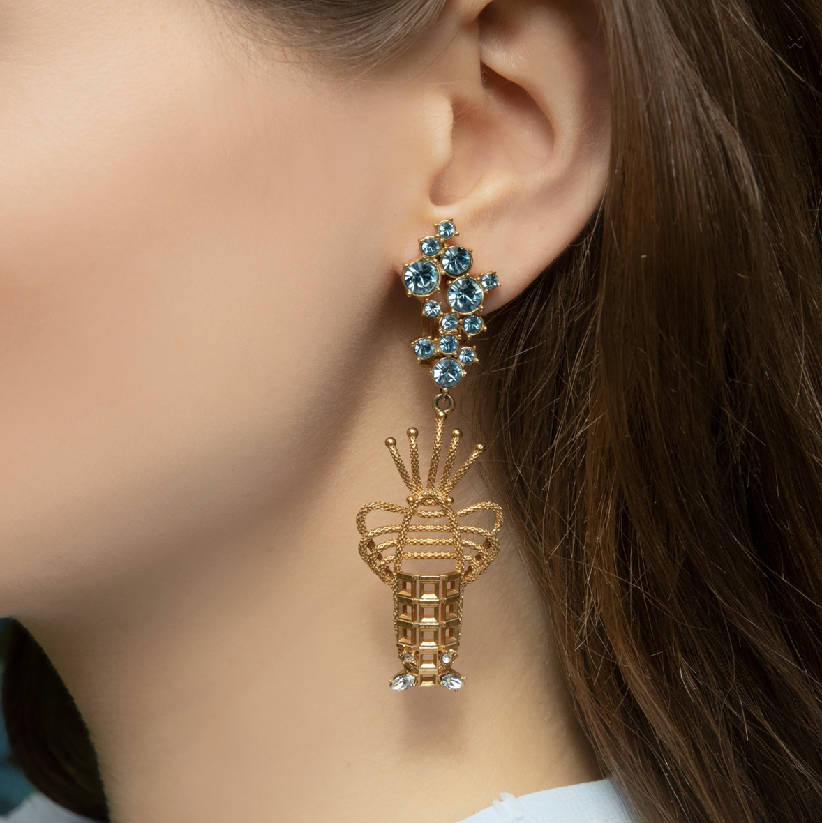 Lobster Clip Luxury Earrings by Sonia Petroff on curated-crowd.com