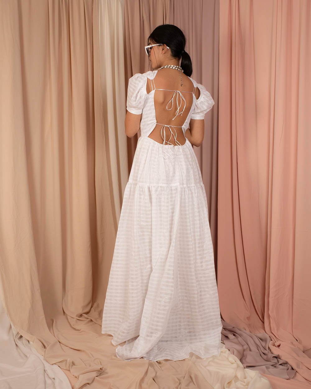 Celina Dress - White by Jessica K on curated-crowd.com