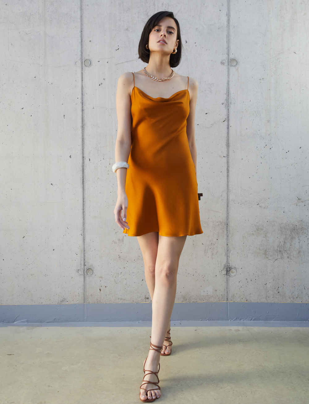 The Orange Work Dress by Manurí on curated-crowd.com