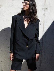 Jacqueline Blazer - Black by Manurí on curated-crowd.com