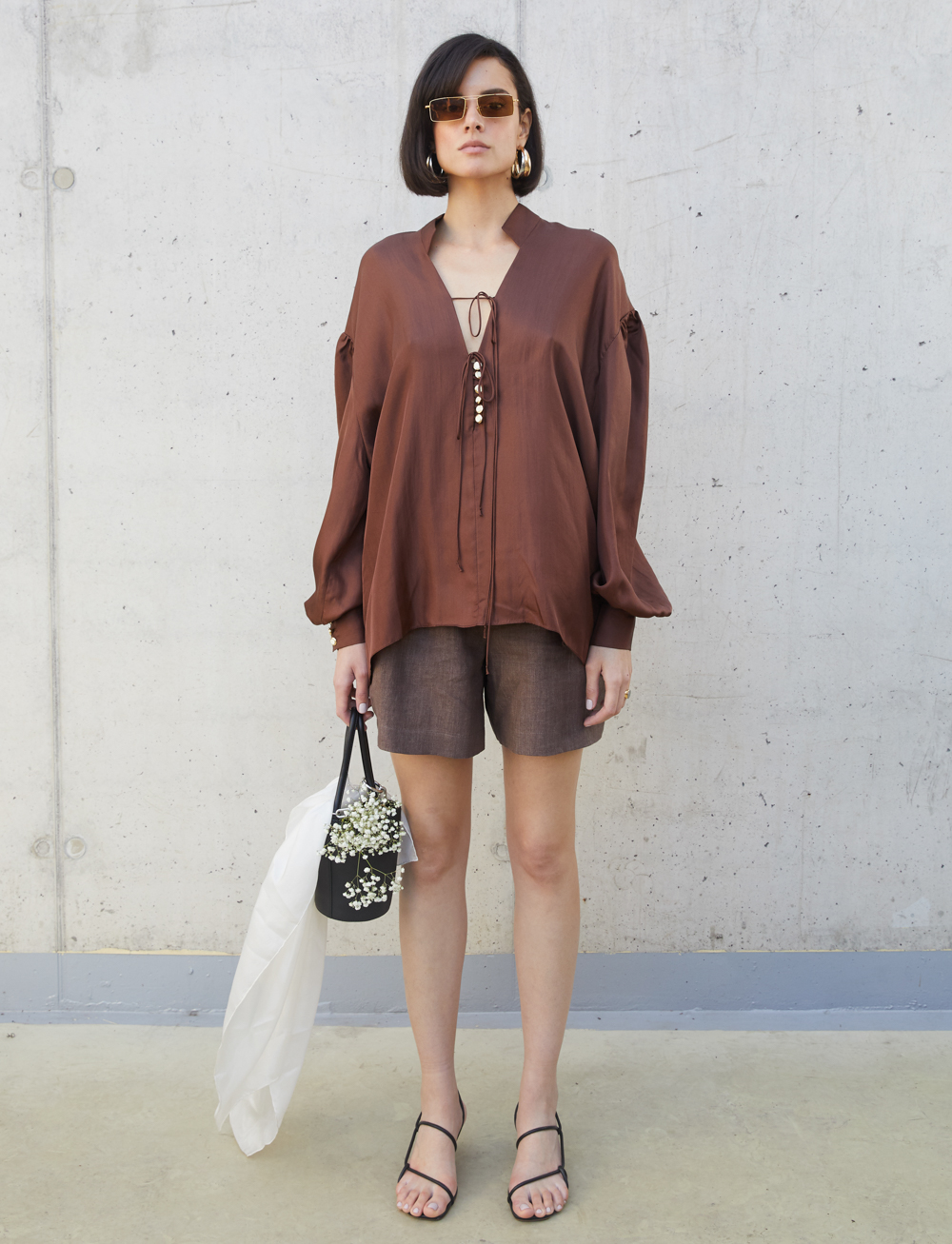 Maree Shirt - Brown by Manurí on curated-crowd.com