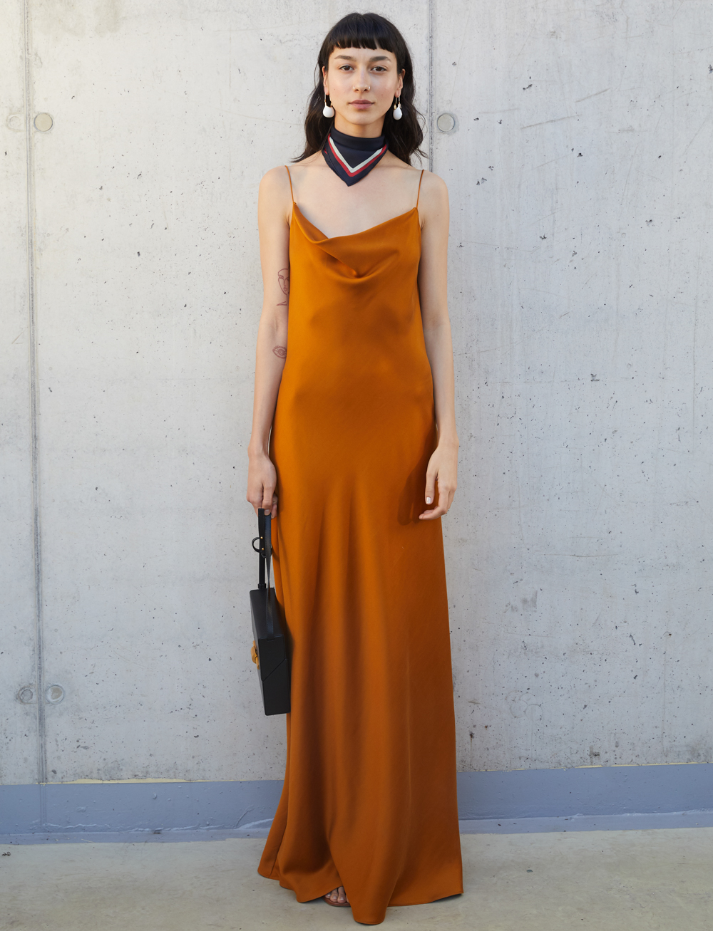 The Orange Work Maxi Dress by Manurí on curated-crowd.com