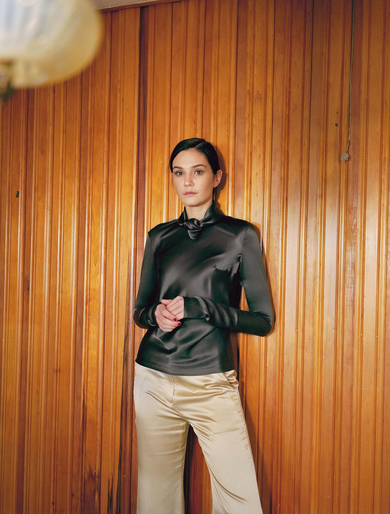 Alter-neck Top - Black by Laura Ironside on curated-crowd.com