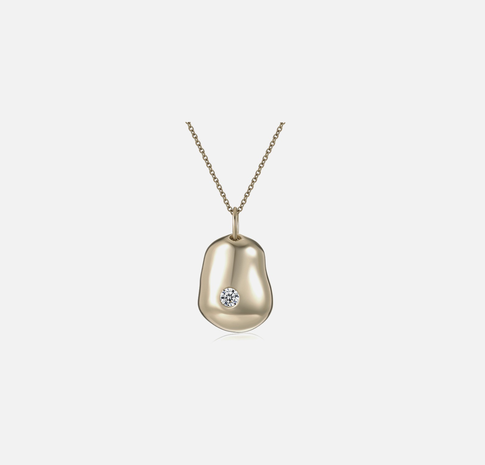 Hudson Pendant Necklace - Gold by Emili on curated-crowd.com