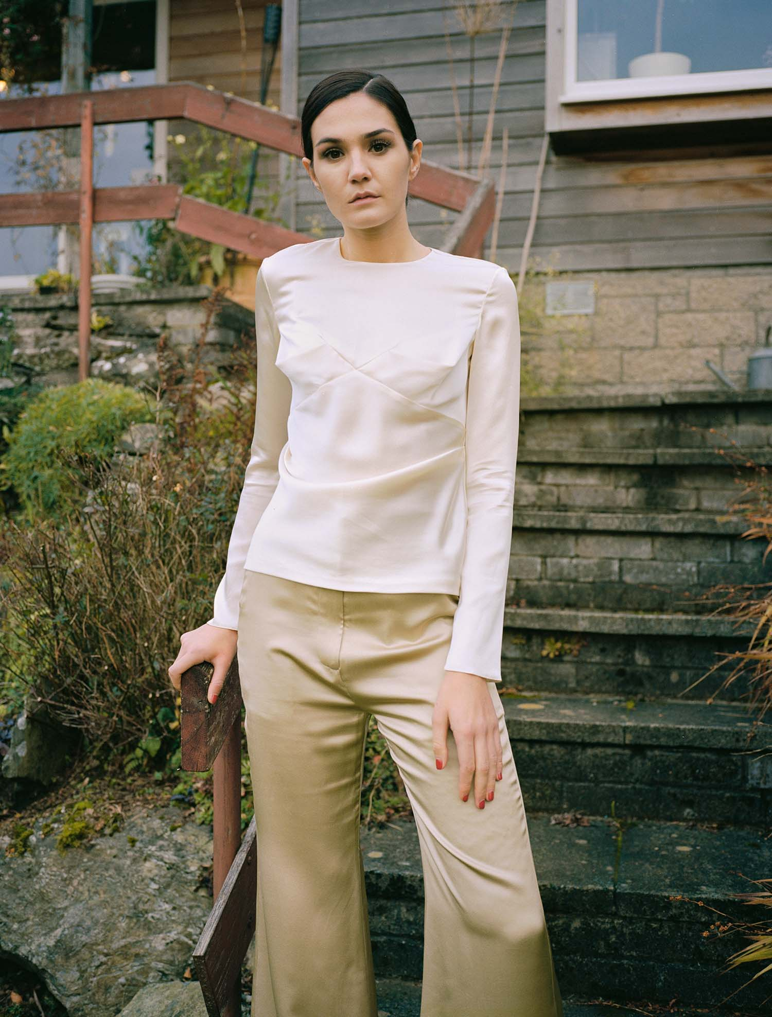 Knight Drape Top - Cream by Laura Ironside on curated-crowd.com