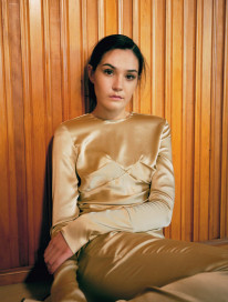 Knight Drape Top - Pale Gold by Laura Ironside on curated-crowd.com