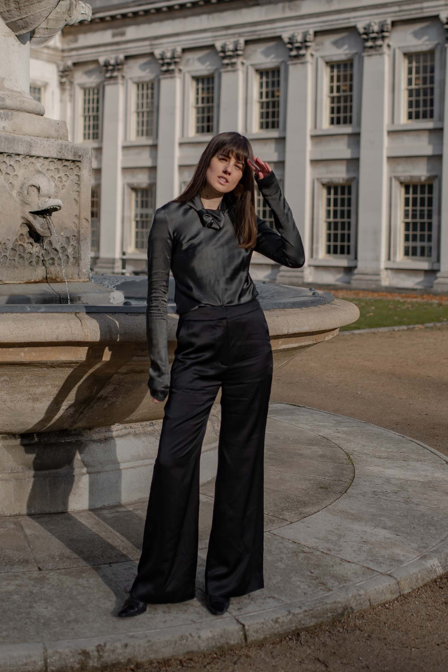 Hero High-Waisted Trousers - Black by Laura Ironside on curated-crowd.com