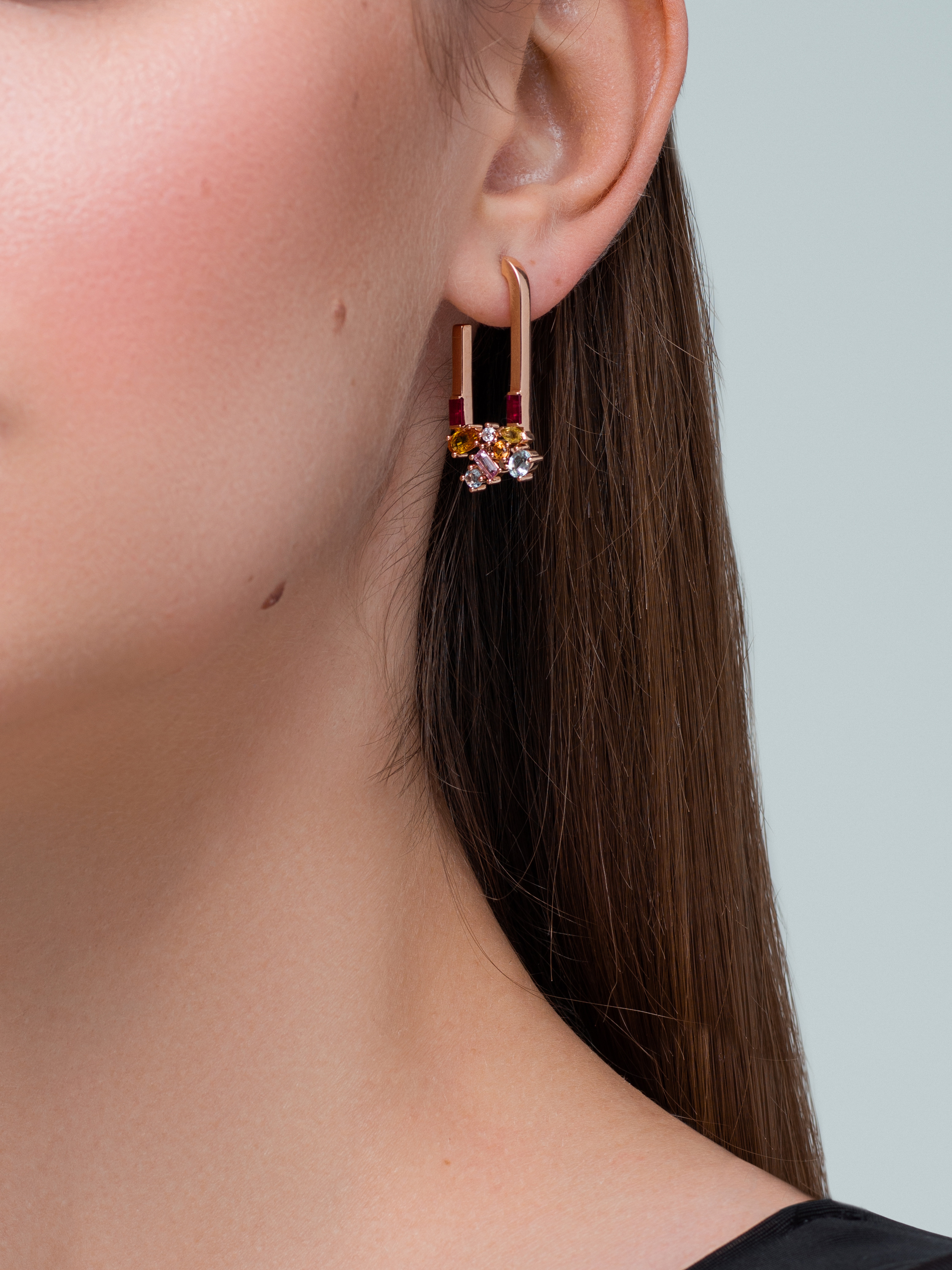 Sunset Attraction Hoop Earrings by Marmari on curated-crowd.com