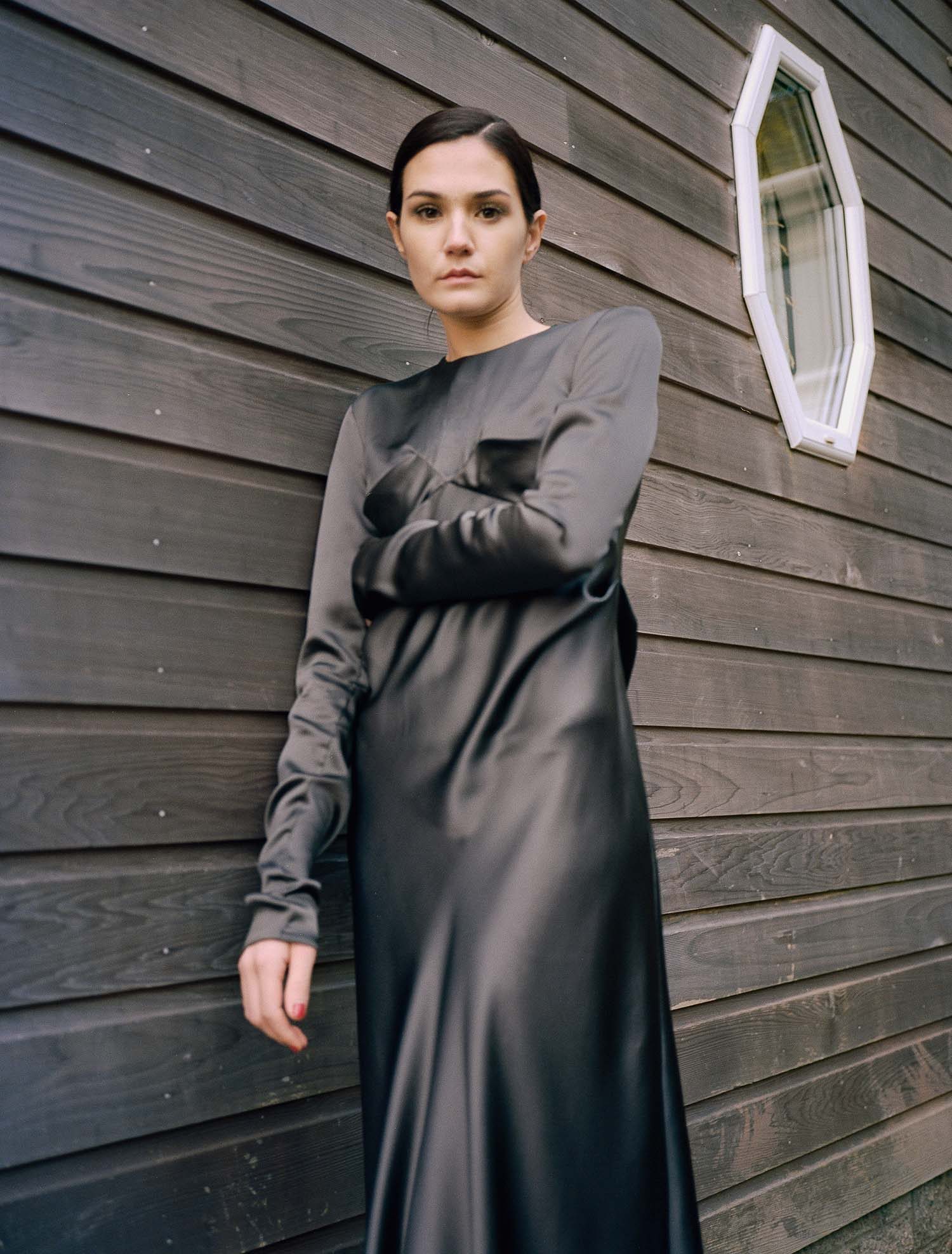 Knight Bias-Cut Dress - Black by Laura Ironside on curated-crowd.com