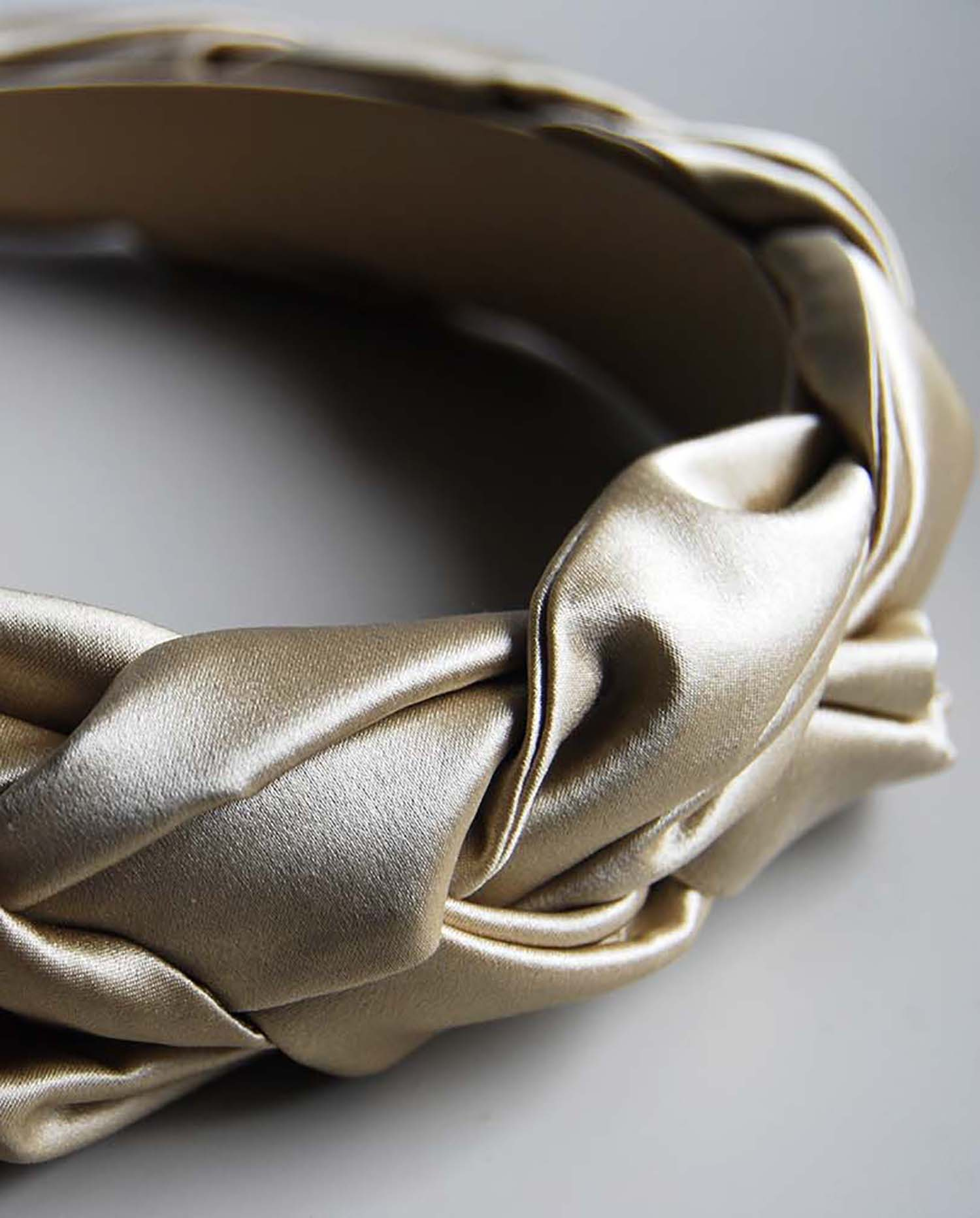 Honor Silk Headband - Pale Gold by Laura Ironside on curated-crowd.com