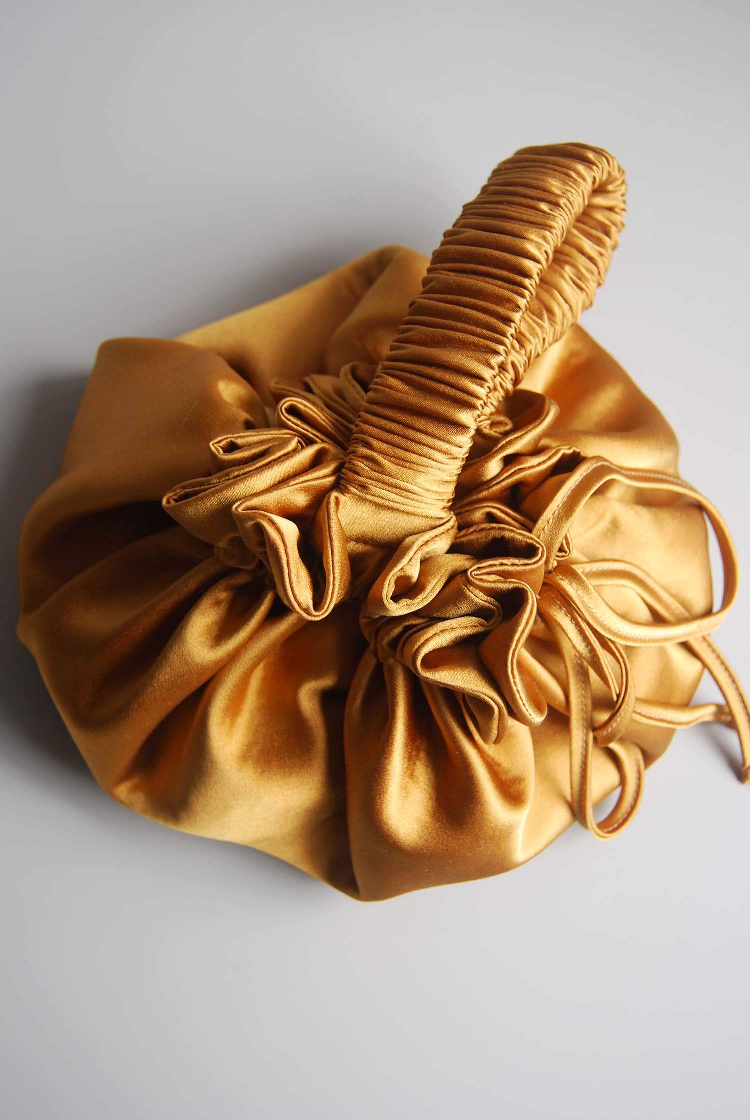 Eleanor Silk Pouch Bag - Hazel by Laura Ironside on curated-crowd.com
