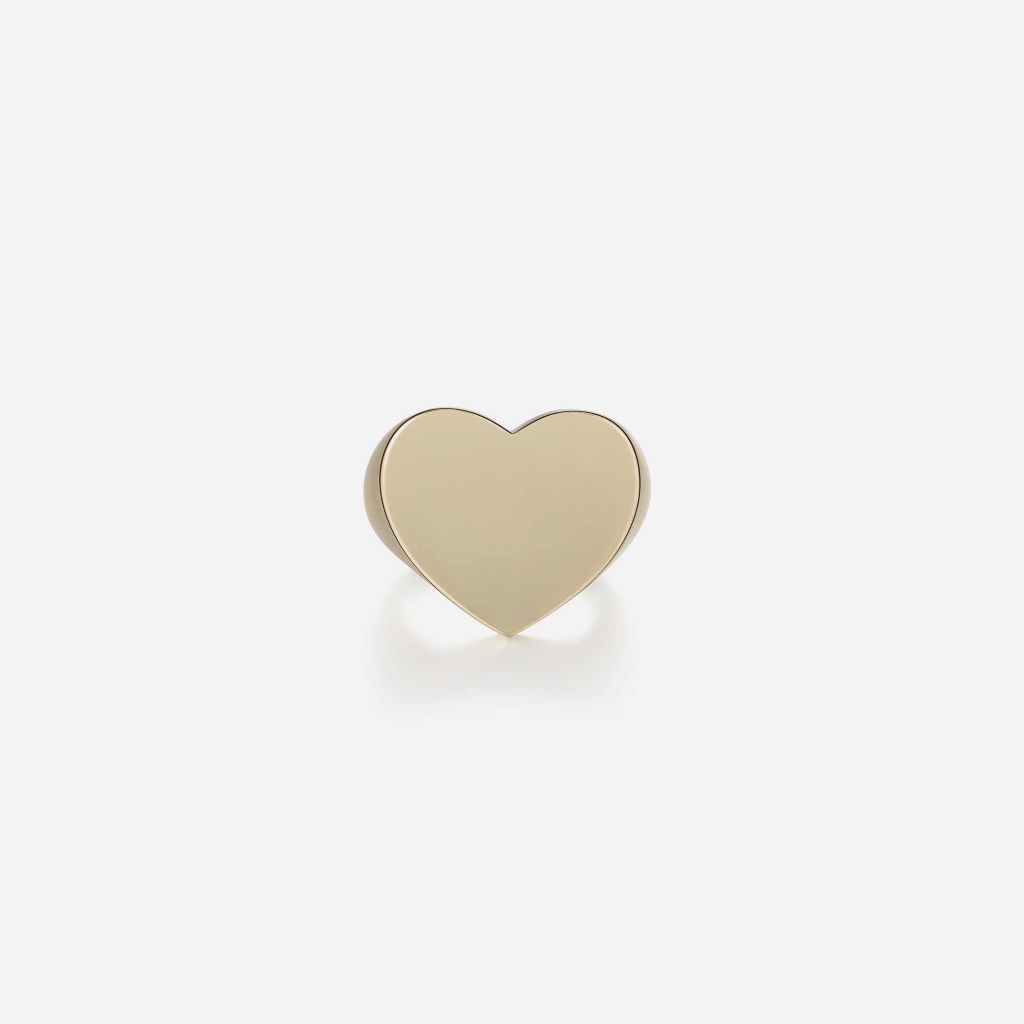 Heart Signet - Gold by Emili on curated-crowd.com