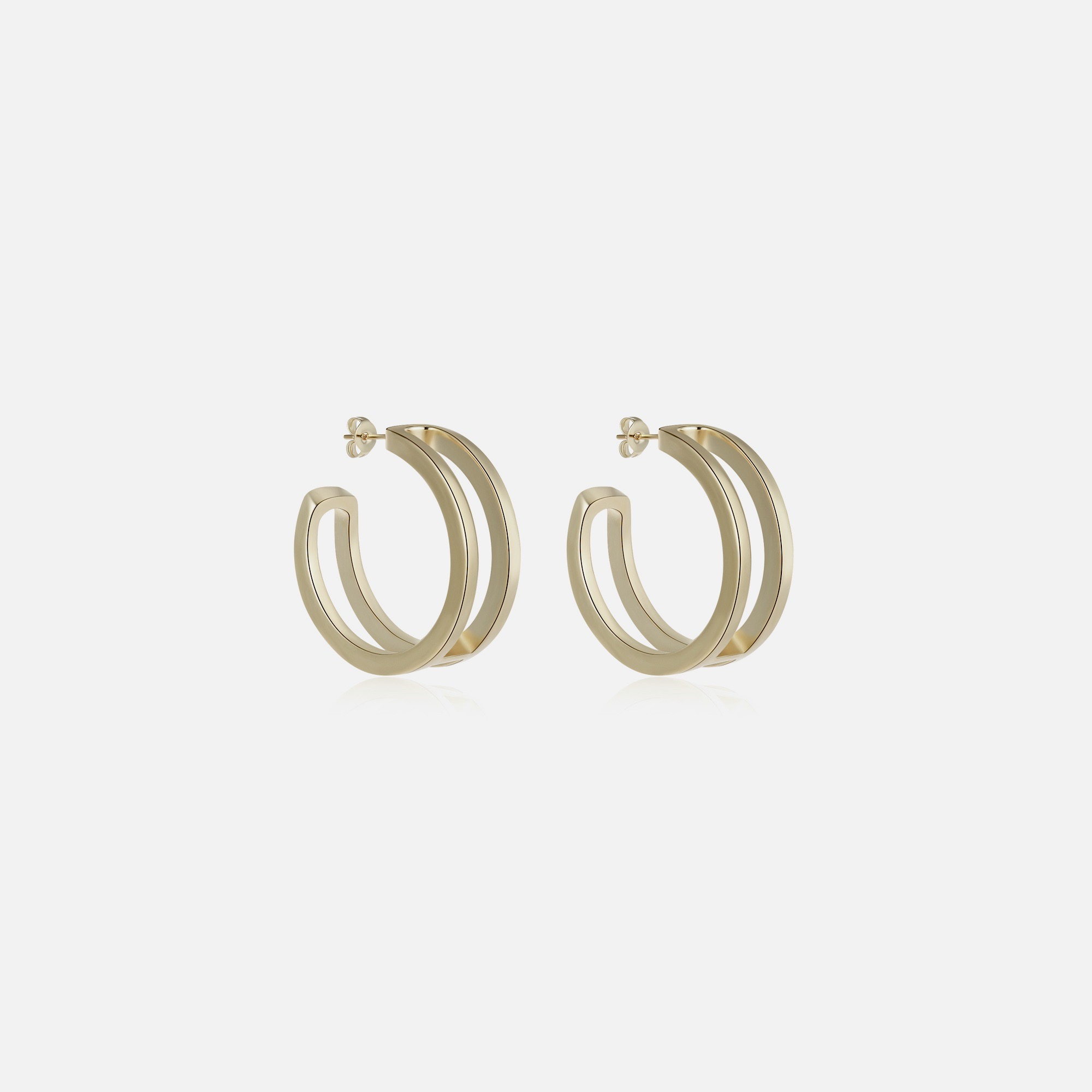 Beverly Hoop Earrings - Gold by Emili on curated-crowd.com