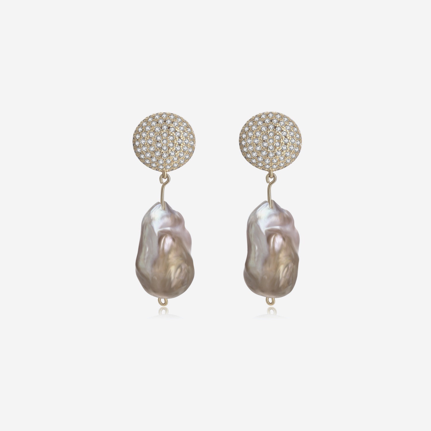 Viv Earrings - Gold by Emili on curated-crowd.com