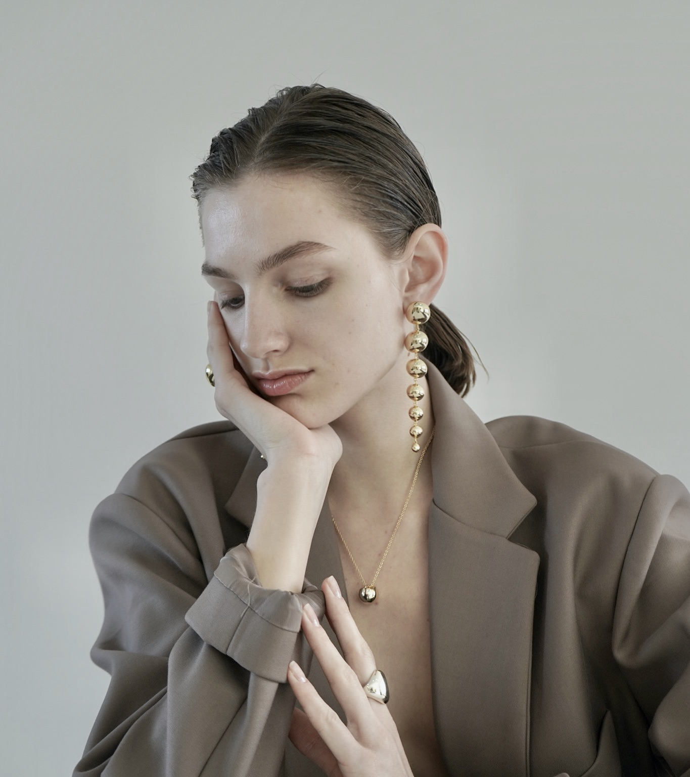 Laila Earring - Gold by Emili on curated-crowd.com