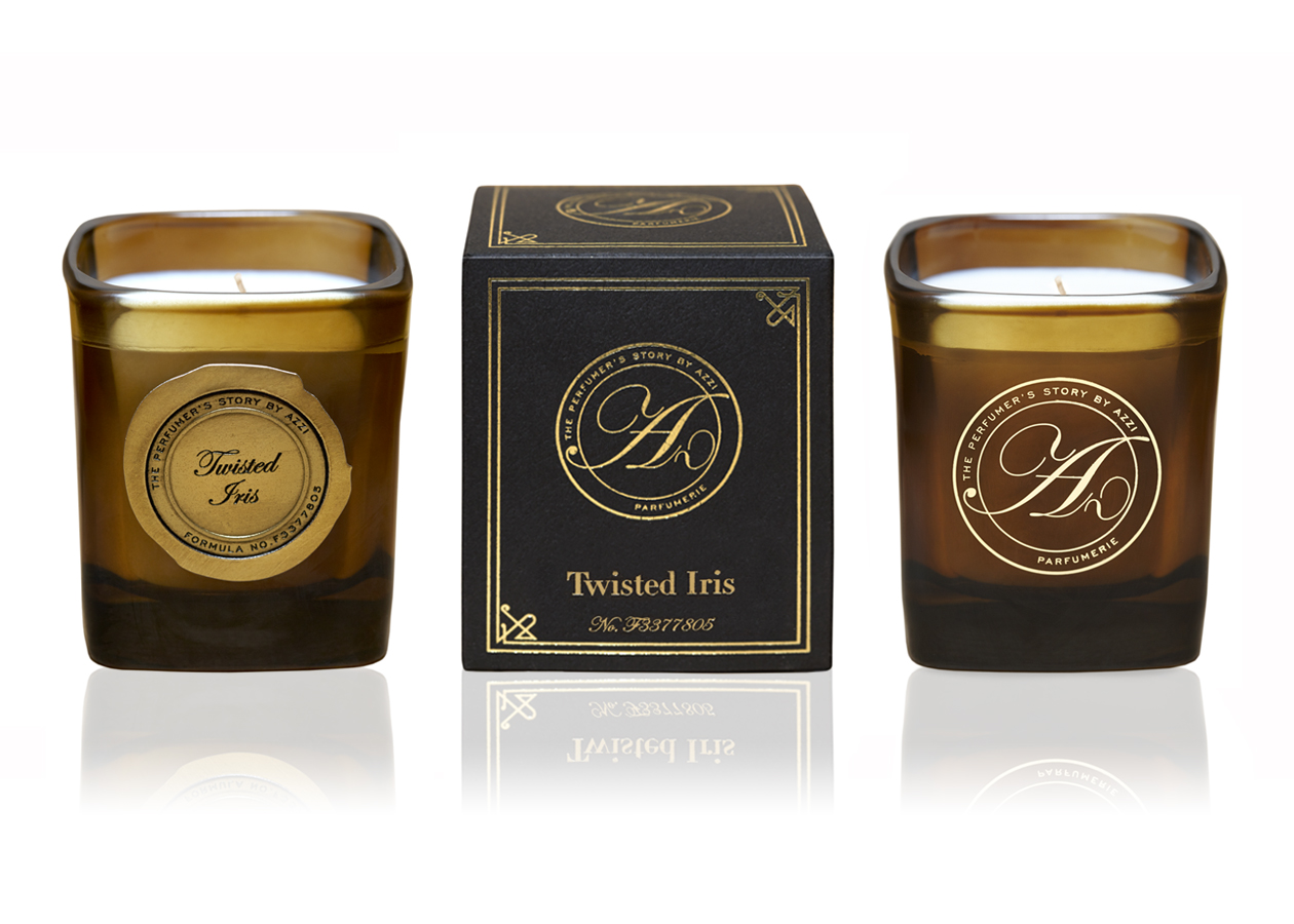 Twisted Iris Candle 180g by The Perfumer's Story by Azzi on curated-crowd.com