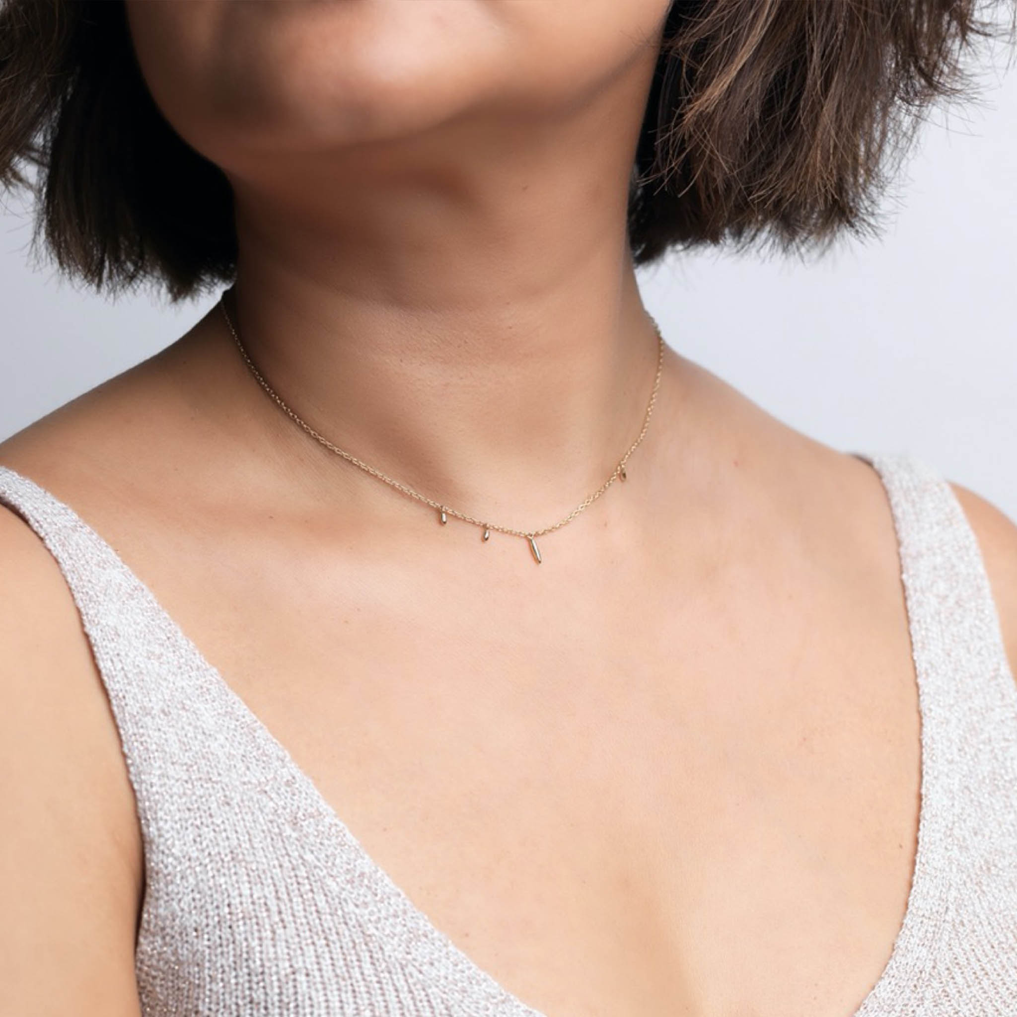 Shoal Necklace, 14k Gold by The Straits Finery on curated-crowd.com