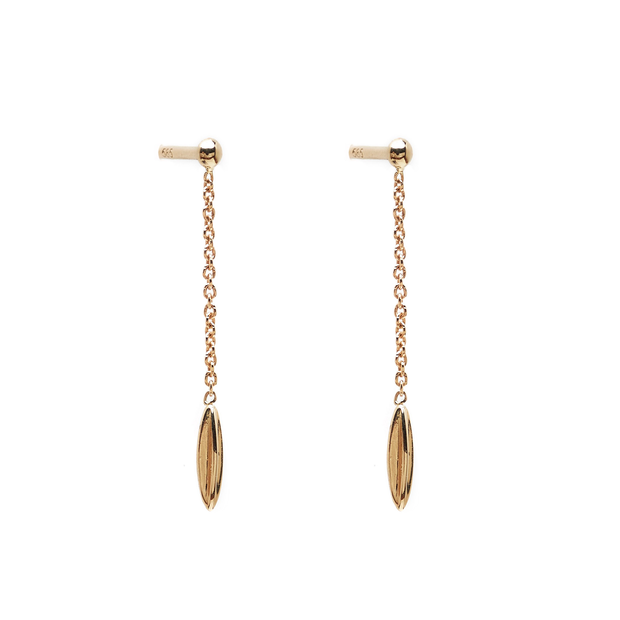 Cowrie Earrings, 14k Gold by The Straits Finery on curated-crowd.com
