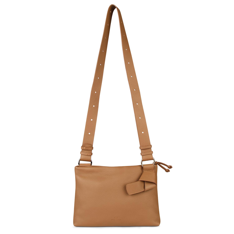 Midi Mayfair Shoulder Bag - Tan by Esin Akan on curated-crowd.com