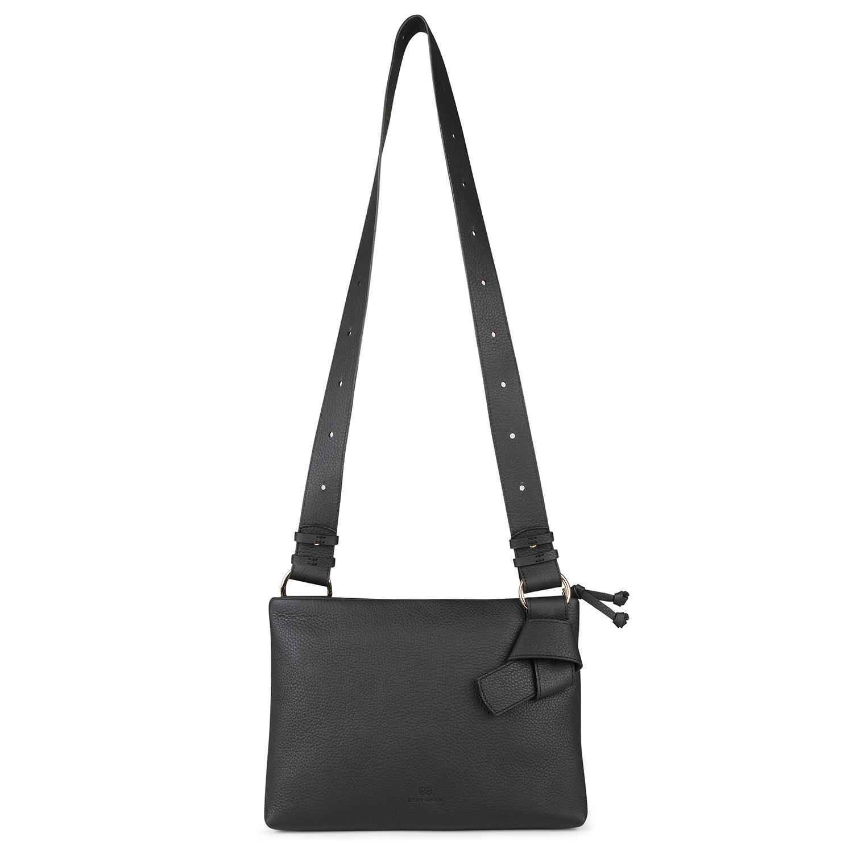 Midi Mayfair Shoulder Bag - Black by Esin Akan on curated-crowd.com