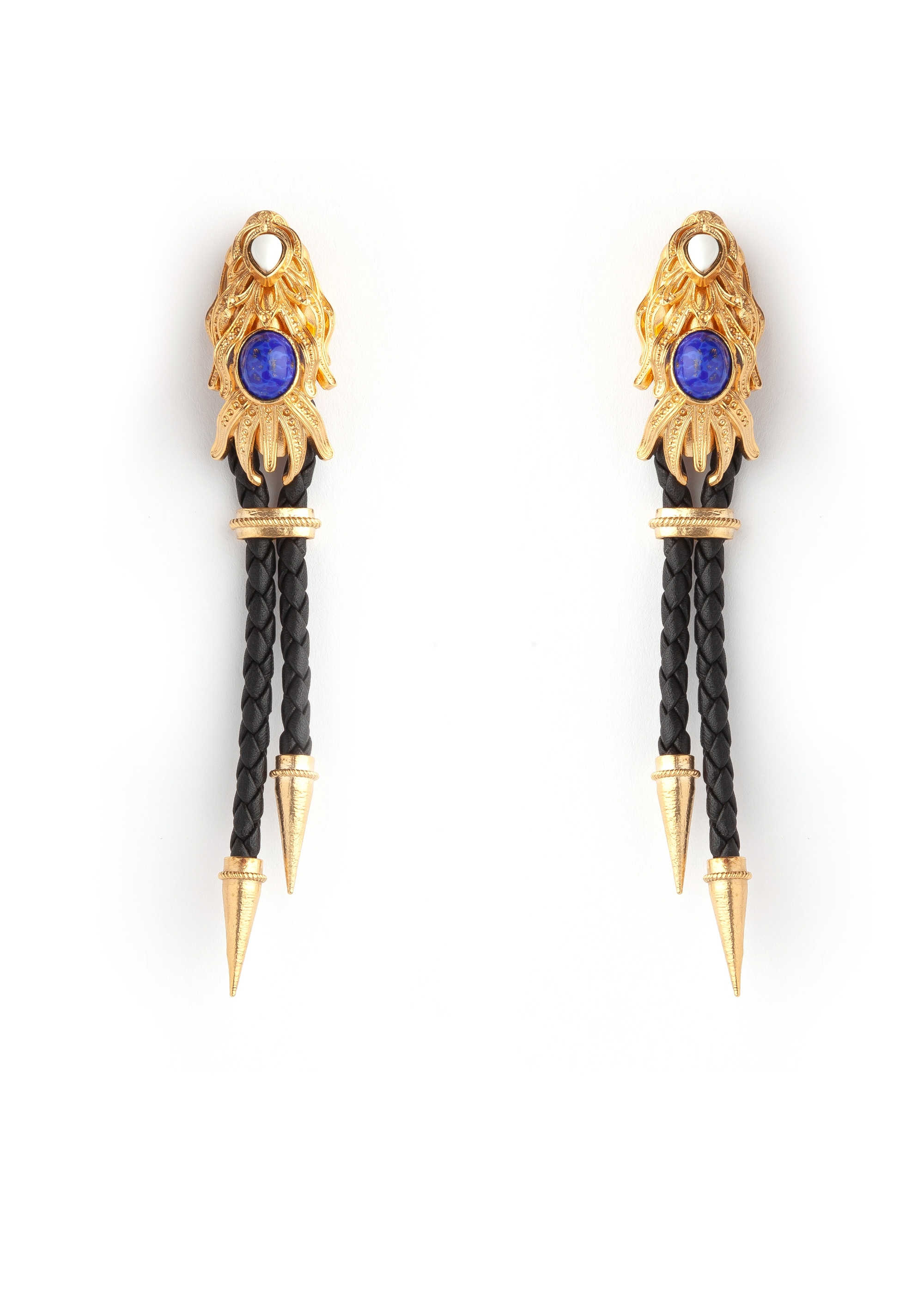 Black Gold Dragonfish Luxury Earrings by Sonia Petroff on curated-crowd.com