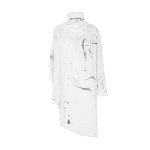 Asymmetrical Marbled Dress by Edward Mongzar on curated-crowd.com