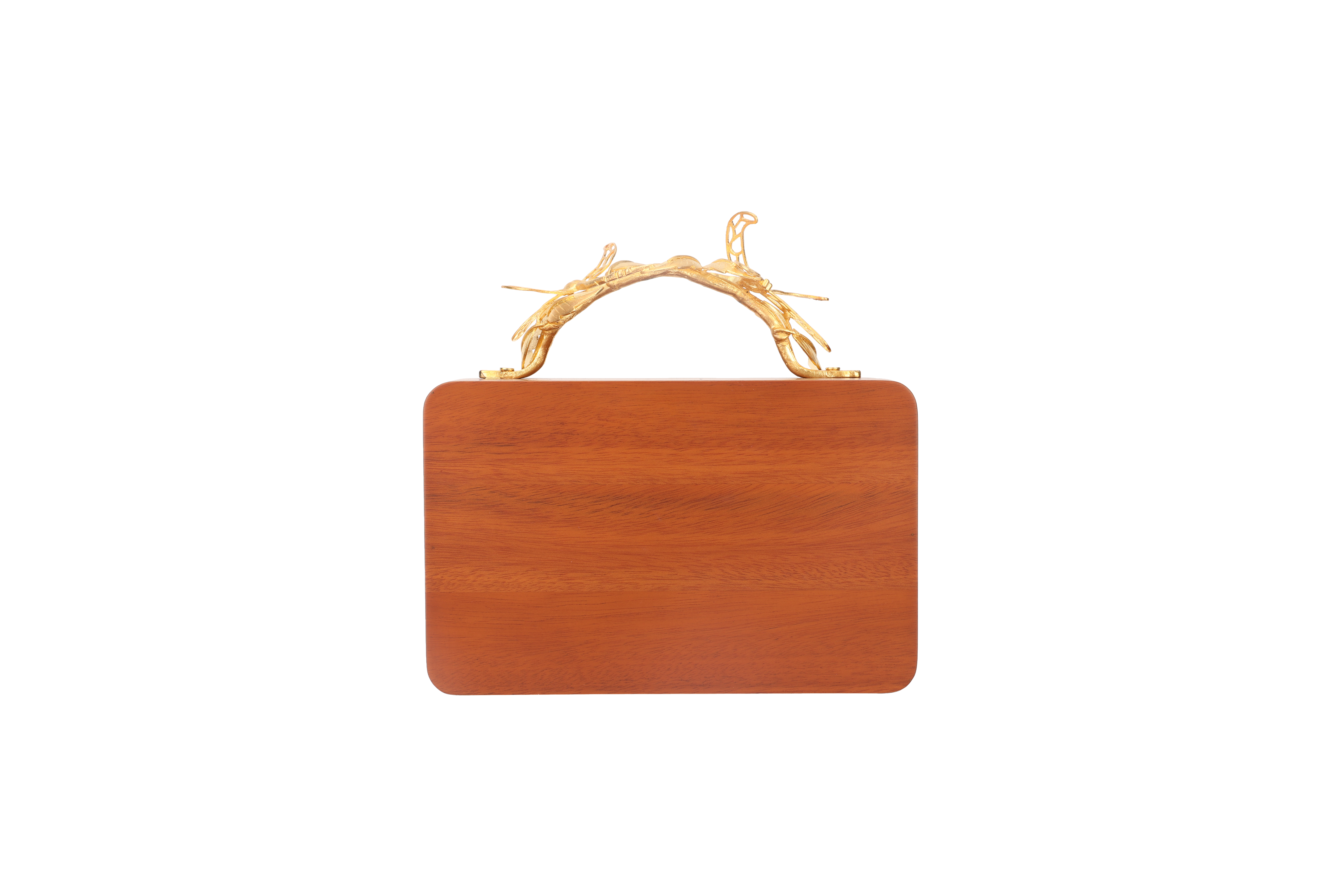 Floral Wooden Grasshopper Clutch by Duet Luxury on curated-crowd.com