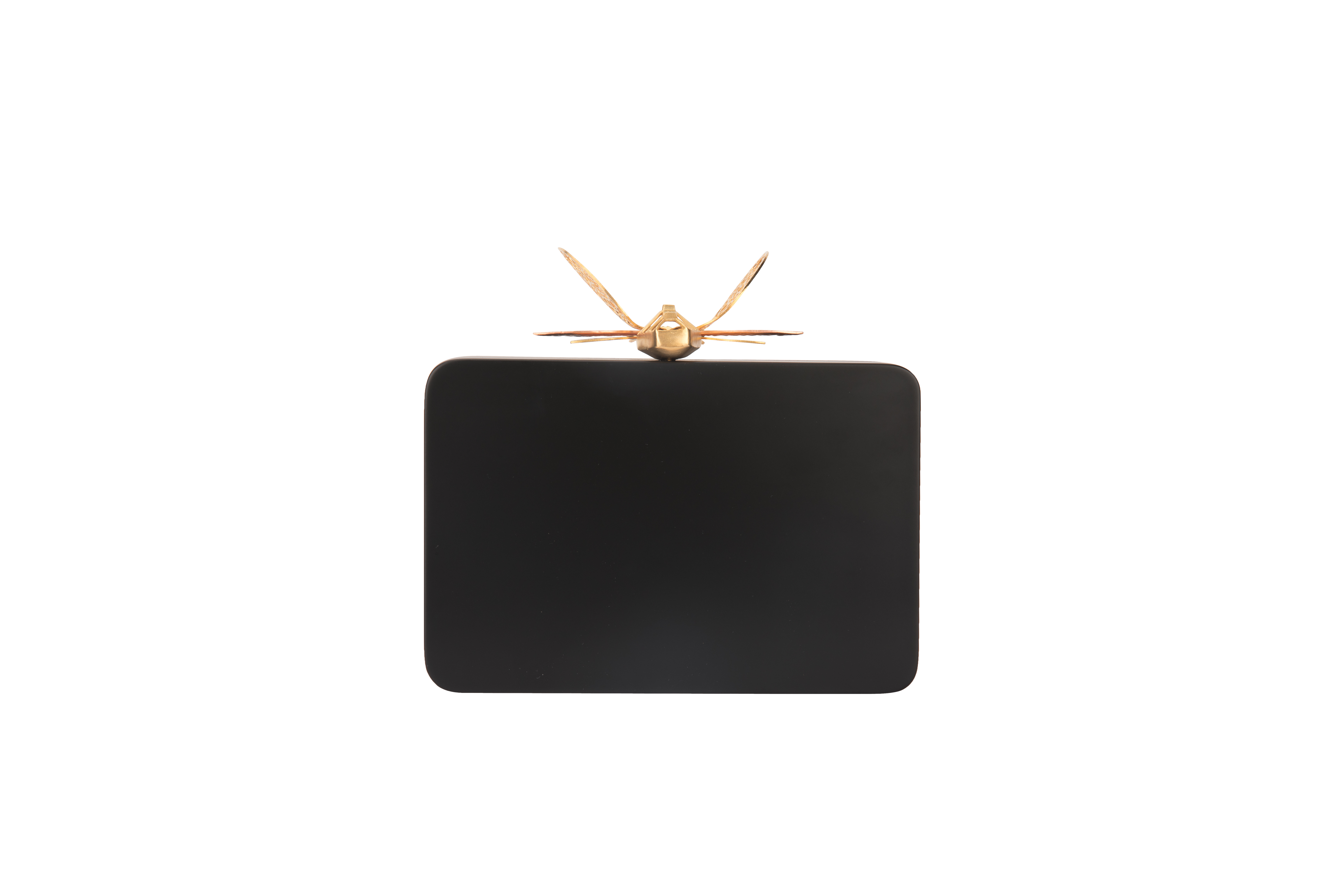 Floral Black Dragonfly Clutch by Duet Luxury on curated-crowd.com