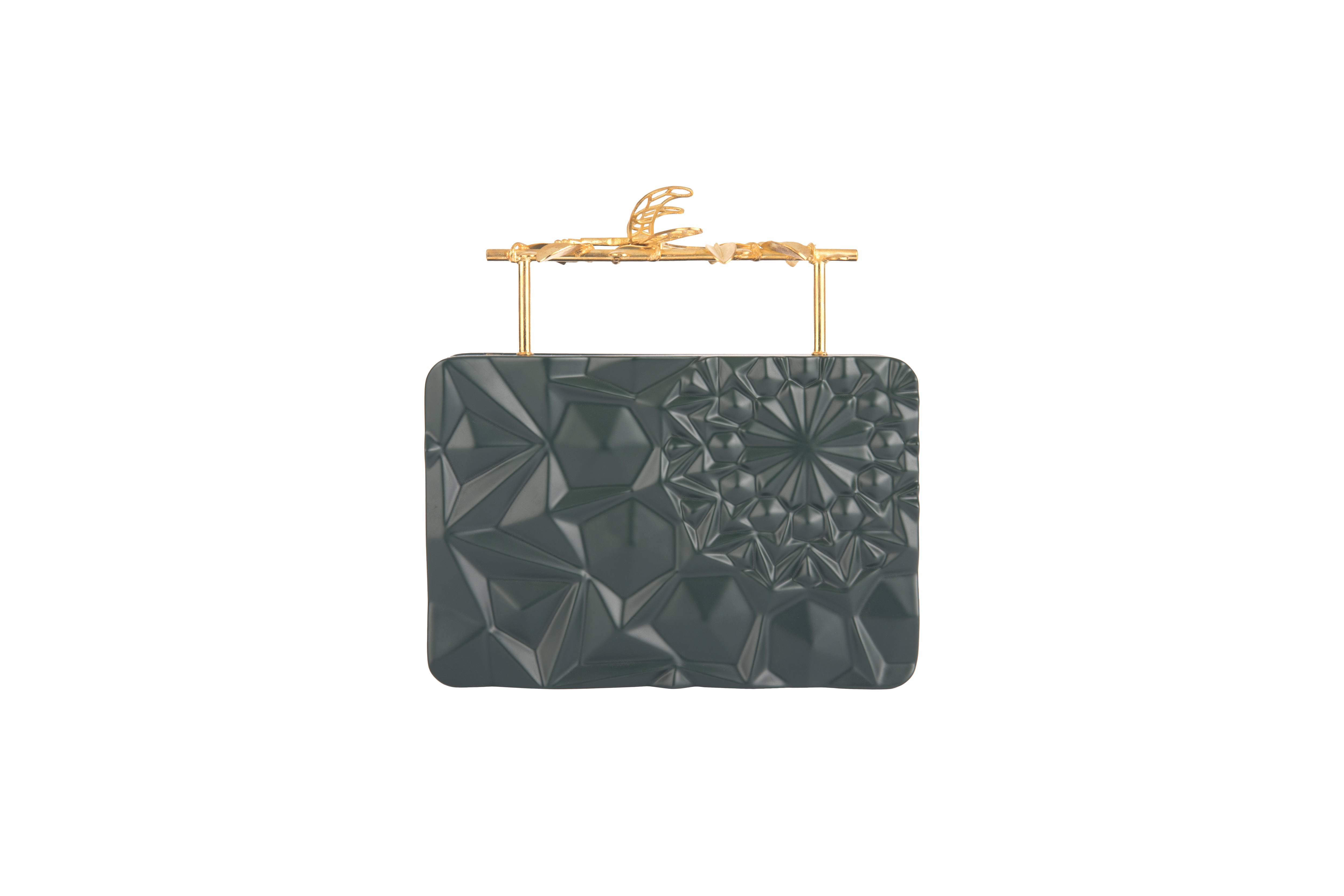 Floral Green Firefly Clutch by Duet Luxury on curated-crowd.com