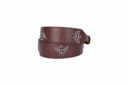 Burgundy Vespa Belt by Duet Luxury on curated-crowd.com