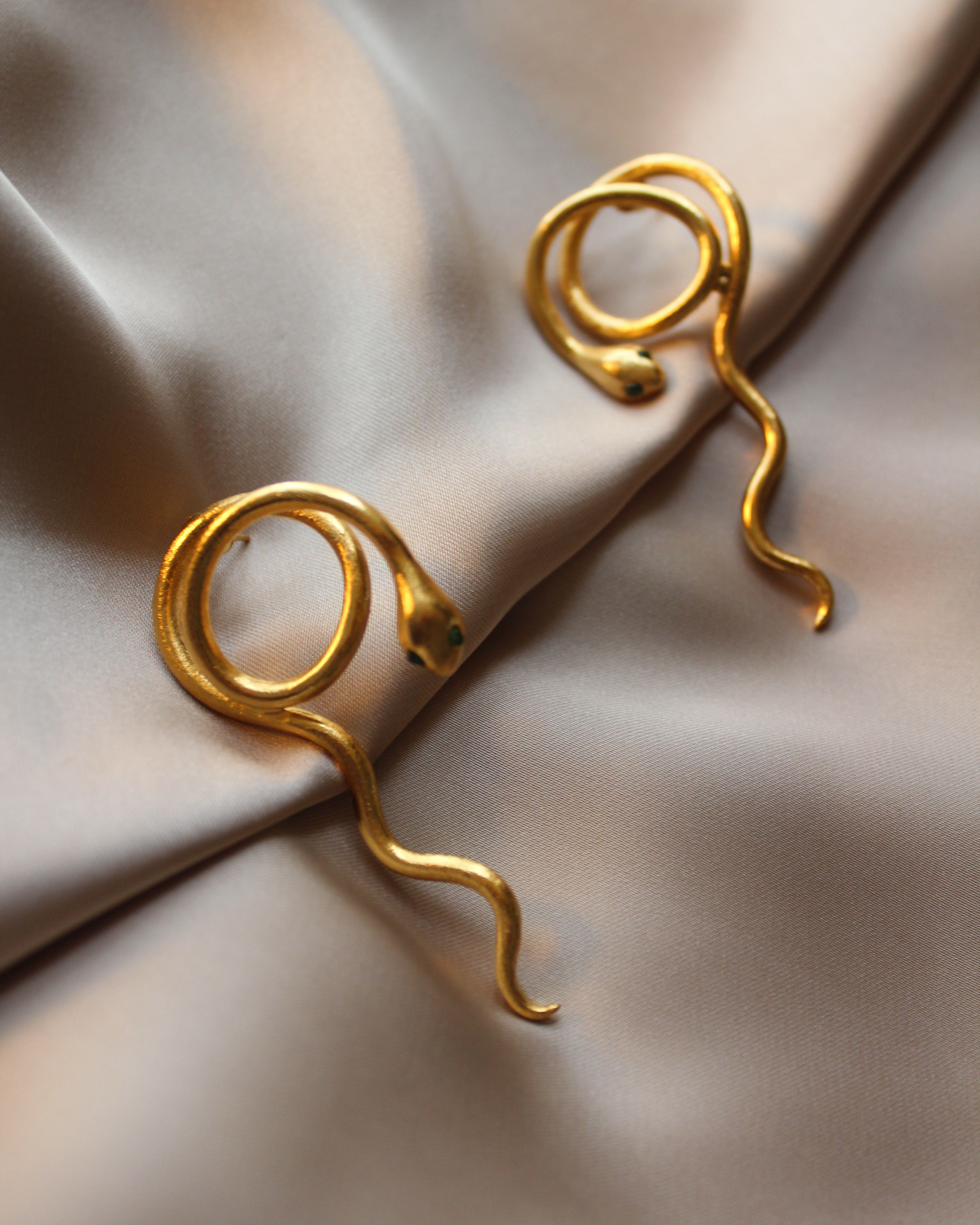 Snake Earrings by Lynyer on curated-crowd.com