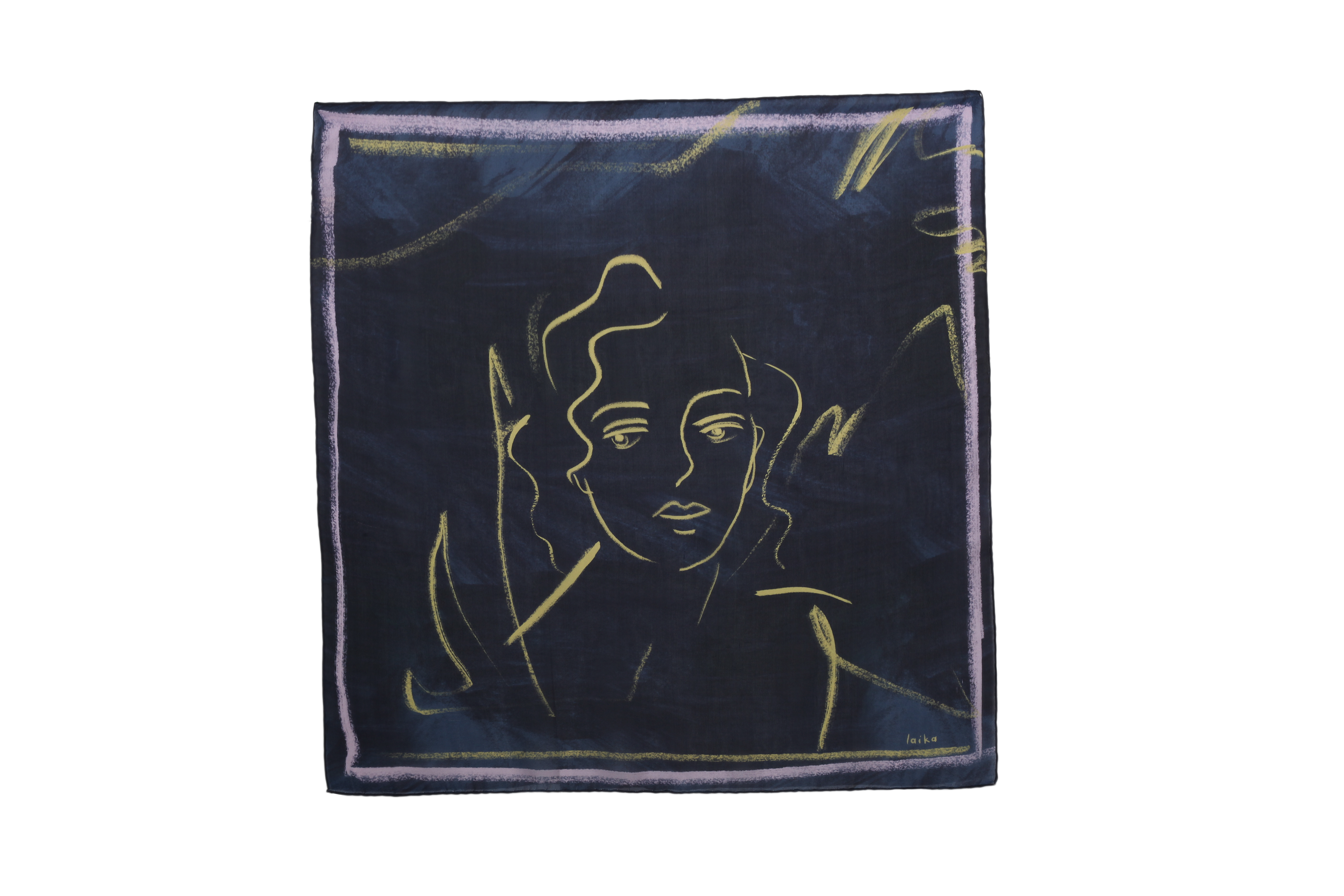 Loneliness Scarf - Navy by Laika on curated-crowd.com