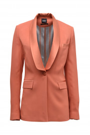 Shawl Collar Tuxedo Jacket - Orange by Sorbé on curated-crowd.com