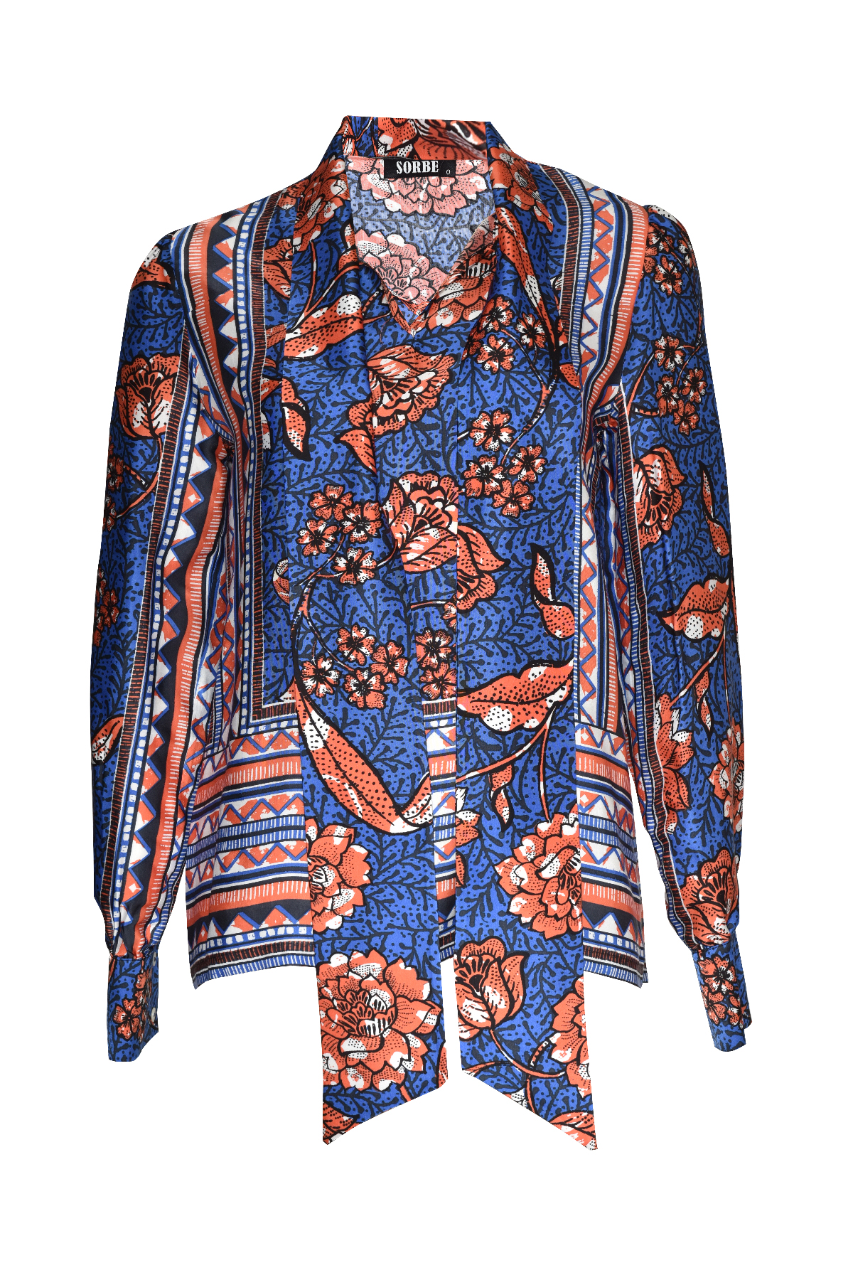 Tunic with Scarf - Sax Orange by Sorbé on curated-crowd.com