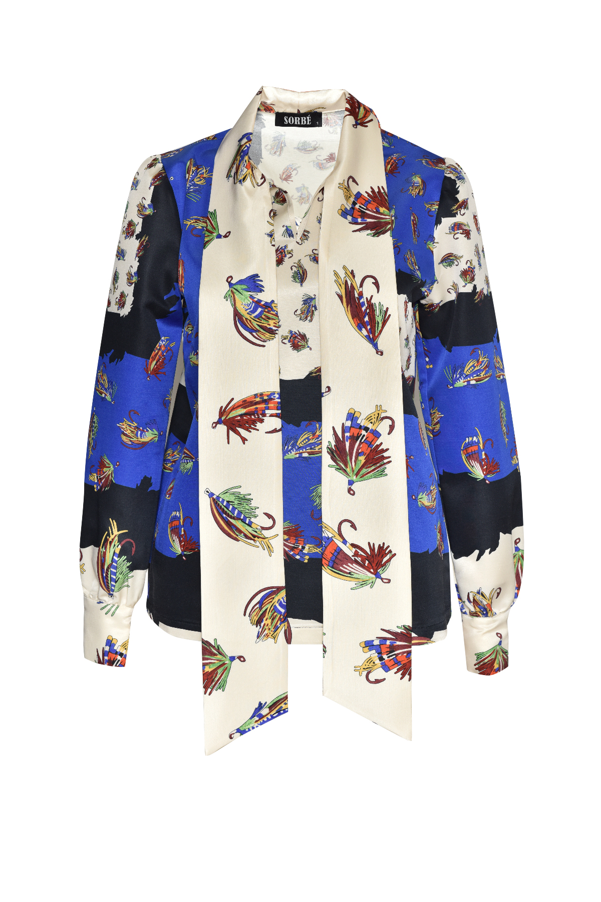 Tunic with Scarf - Sax Ecru by Sorbé on curated-crowd.com