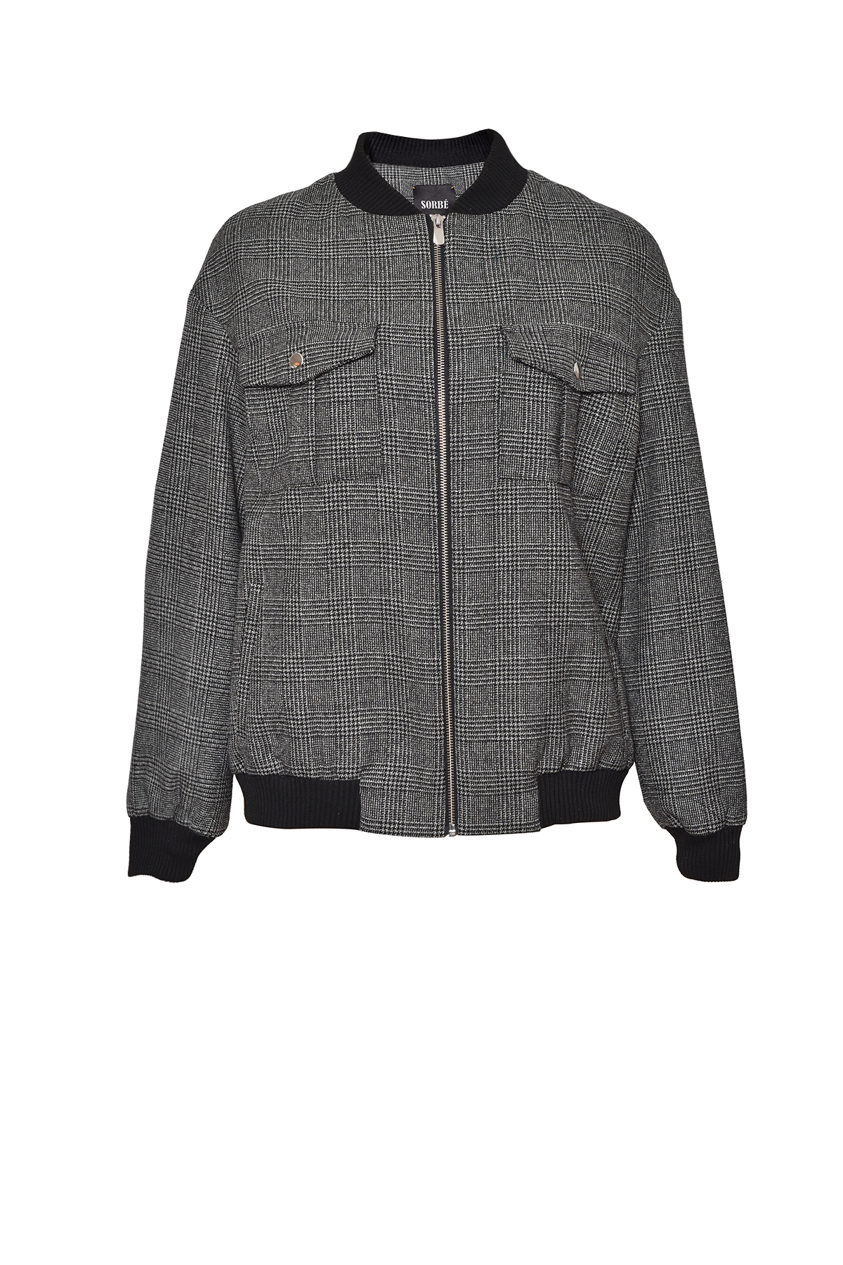 Bomber Jacket - Black Checked by Sorbé on curated-crowd.com